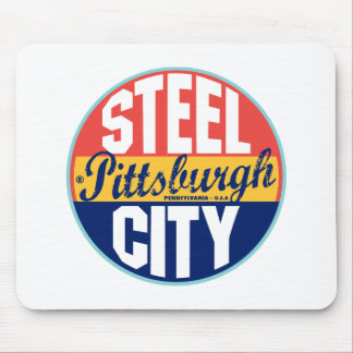 Etiqueta del vintage de Pittsburgh Mousepads