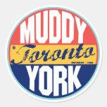Etiqueta del vintage de Toronto