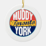 Etiqueta del vintage de Toronto Ornamento Para Reyes Magos