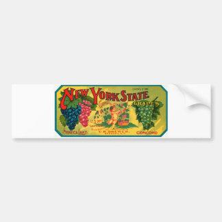Etiqueta del vintage del anuncio de las uvas del E Etiqueta De Parachoque