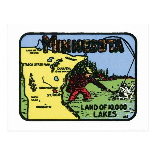 Etiqueta del vintage del manganeso de Minnesota Postal