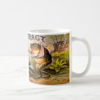Etiqueta del vintage para el extracto de las charc tazas de café