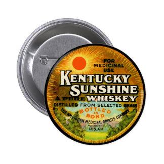 Etiqueta del whisky de Kentucky del vintage Pin Redondo De 2 Pulgadas