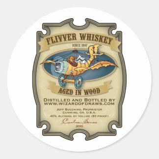 Etiqueta del whisky del aeroplano barato