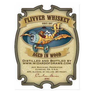 Etiqueta del whisky del aeroplano barato postales