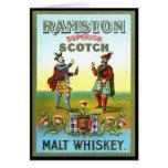 ETIQUETA del whisky escocés del vintage Felicitación