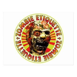 Etiqueta del zombi tarjetas postales