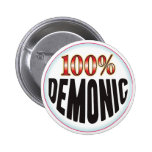 Etiqueta demoníaca pin