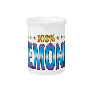 Etiqueta demoníaca v2 de la estrella jarra para bebida