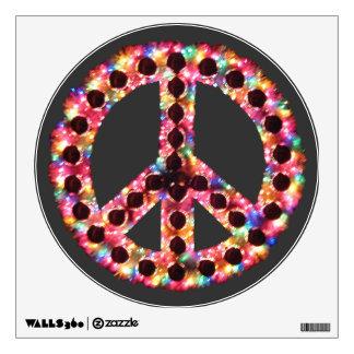etiqueta dentada de la pared de la paz 5-Color