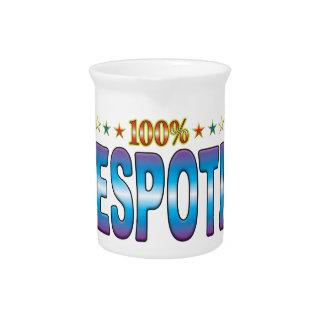 Etiqueta despótica v2 de la estrella jarras de beber