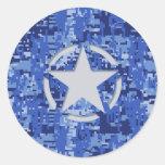Etiqueta Digital azul Camo del jeep del vintage de