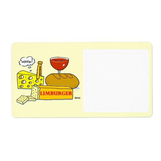 Etiqueta divertida del almacenamiento de la comida etiquetas de envío