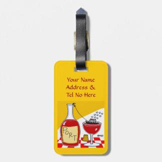 Etiqueta divertida del equipaje del vino de Oporto Etiquetas Para Maletas