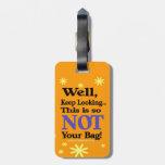 Etiqueta divertida del equipaje etiquetas maleta