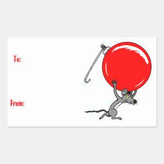 Etiqueta divertida del regalo del ratón del