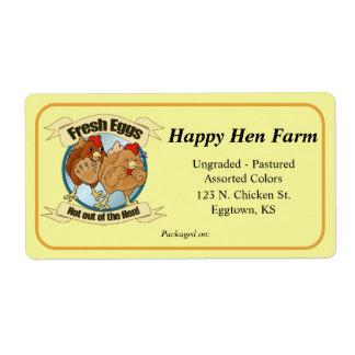 Etiqueta divertida grande de los pollos etiquetas de envío