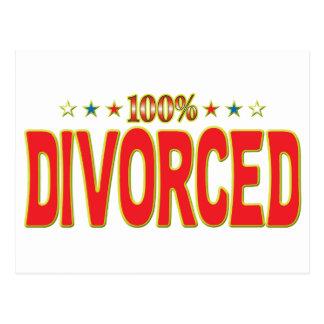 Etiqueta divorciada de la estrella postales