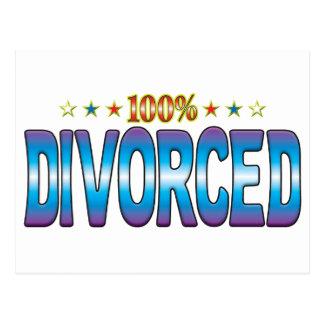 Etiqueta divorciada v2 de la estrella postal