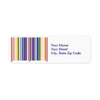 Etiqueta doble del remite del código de barras del etiqueta de remite