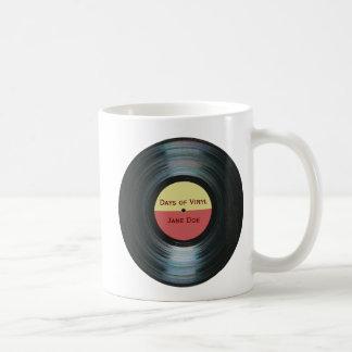 Etiqueta Drinkware del expediente de la música del Taza