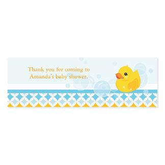 Etiqueta Ducky de goma del favor de la fiesta de b Plantilla De Tarjeta De Visita