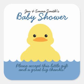 etiqueta ducky de goma linda del favor de fiesta