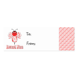 Etiqueta dulce del regalo de la abeja plantilla de tarjeta personal