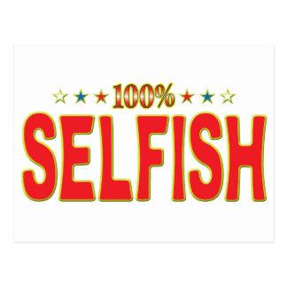 Etiqueta egoísta de la estrella postal