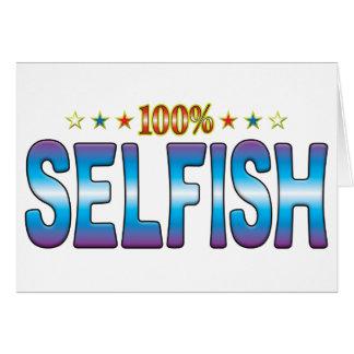 Etiqueta egoísta v2 de la estrella felicitacion
