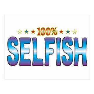 Etiqueta egoísta v2 de la estrella postal