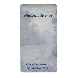 Etiqueta elaborada cerveza hogar de la cerveza etiqueta de envío