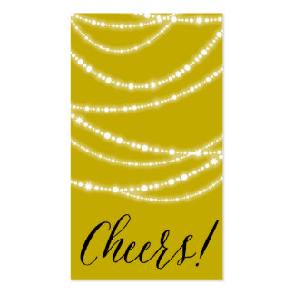 Etiqueta elegante chispeante del regalo de las tarjetas de visita
