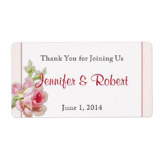 Etiqueta elegante color de rosa rosada de la etiqueta de envío