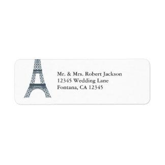 Etiqueta elegante de Avery de la torre Eiffel Etiquetas De Remite