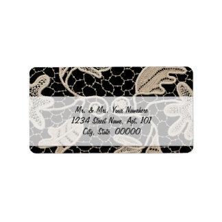 Etiqueta elegante de Avery del cordón del ganchill Etiquetas De Dirección
