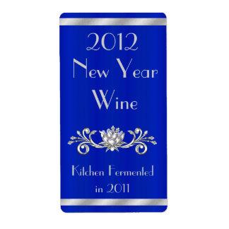 Etiqueta elegante de la botella de vino del Año Nu Etiqueta De Envío
