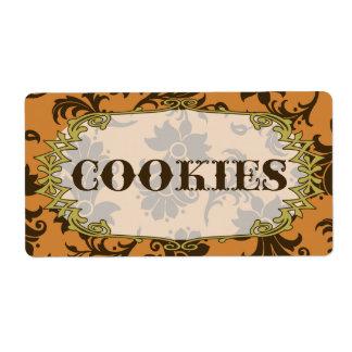 Etiqueta elegante de la comida de las galletas etiqueta de envío