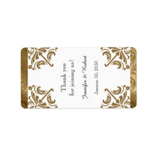 Etiqueta elegante de seda del protector labial del etiqueta de dirección