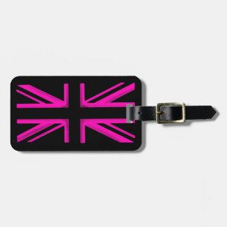 Etiqueta elegante del equipaje de la bandera negra etiquetas de maletas