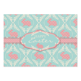 Etiqueta elegante del regalo del conejito tarjeta de visita