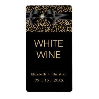 Etiqueta elegante del vino de los susurros etiquetas de envío