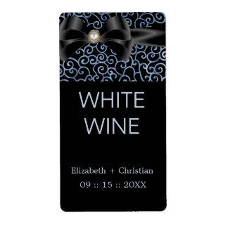 Etiqueta elegante del vino de los susurros etiqueta de envío