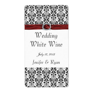 Etiqueta elegante del vino del boda etiqueta de envío