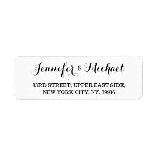 Etiqueta elegante personalizada del remite del etiquetas de remite
