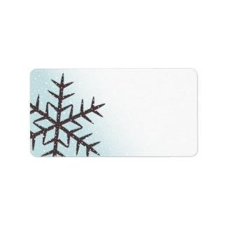 Etiqueta en blanco azul de la aguamarina pálida de etiqueta de dirección