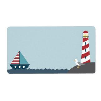 Etiqueta en blanco náutica etiquetas de envío