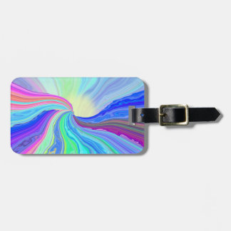 Etiqueta en colores pastel del equipaje del río etiquetas bolsa