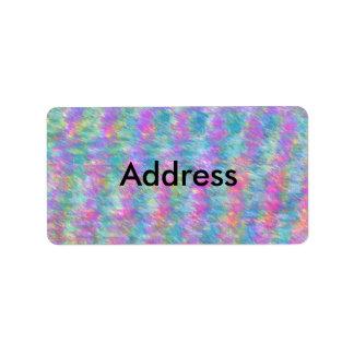 Etiqueta en colores pastel preciosa del remite etiquetas de dirección