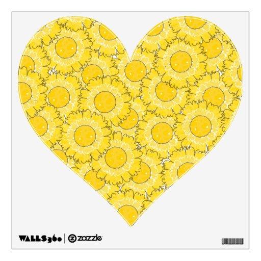 Etiqueta en forma de corazón de la pared de los fl